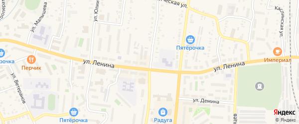 Улица Калинина на карте Кыштыма с номерами домов