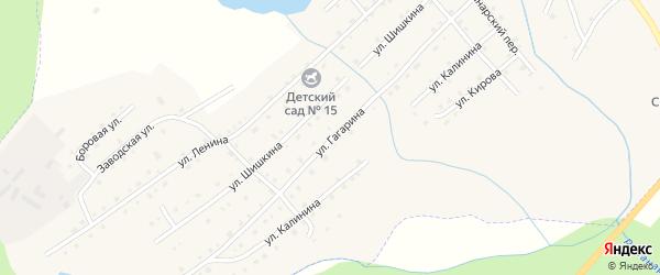Улица Гагарина на карте села Верхней Санарки с номерами домов
