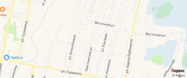 Крестьянская улица на карте Кыштыма с номерами домов