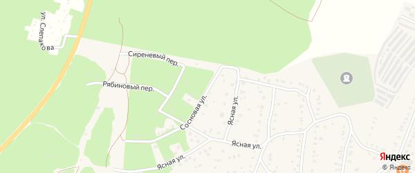 Сосновая улица на карте Кыштыма с номерами домов