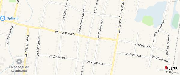 Улица Максима Горького на карте Кыштыма с номерами домов