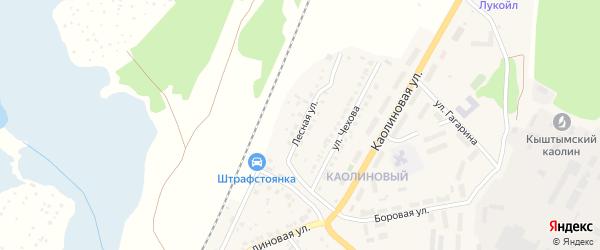 Лесная улица на карте Кыштыма с номерами домов