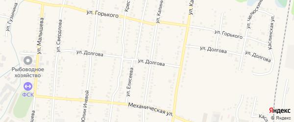 Улица Долгова на карте Кыштыма с номерами домов
