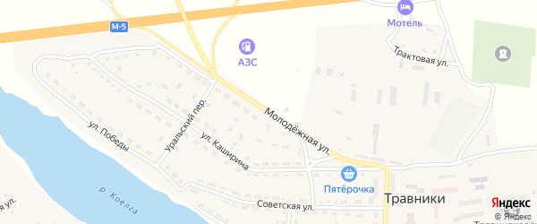 Молодежная улица на карте села Травники с номерами домов