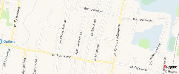 Восточный переулок на карте Кыштыма с номерами домов