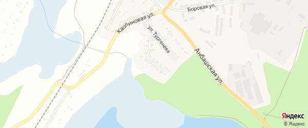 Моховая улица на карте Кыштыма с номерами домов