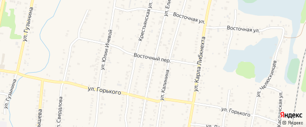 Улица Елисеева на карте Кыштыма с номерами домов
