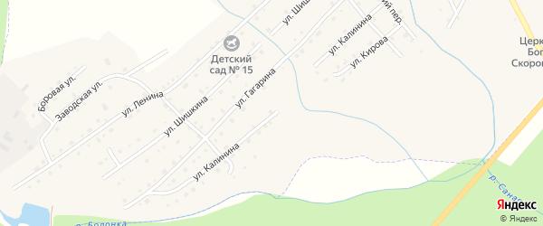 Улица Калинина на карте села Верхней Санарки с номерами домов