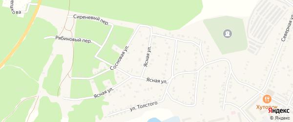 Ясная улица на карте Кыштыма с номерами домов