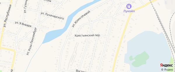 Крестьянский переулок на карте Кыштыма с номерами домов