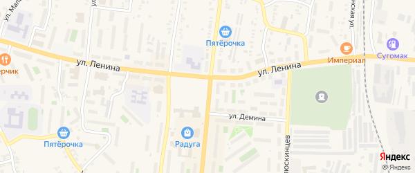 Территория ГСК Береговой на карте Кыштыма с номерами домов