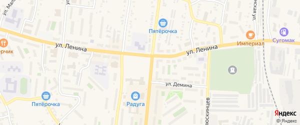 Улица Егозинский Кордон на карте Кыштыма с номерами домов
