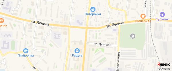 Переулок К.Либкнехта на карте Кыштыма с номерами домов