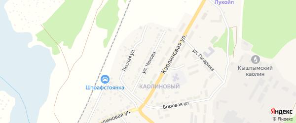 Улица Чехова на карте Кыштыма с номерами домов