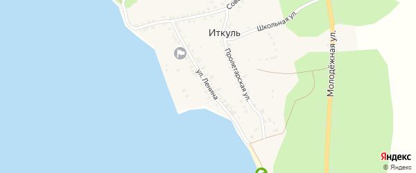 Улица Ленина на карте села Иткуля с номерами домов
