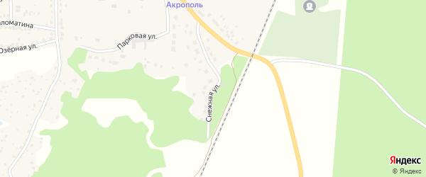 Снежная улица на карте Кыштыма с номерами домов