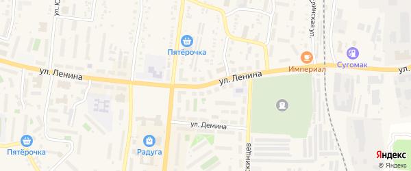 Улица Ленина на карте Кыштыма с номерами домов
