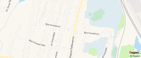 Восточная улица на карте Кыштыма с номерами домов
