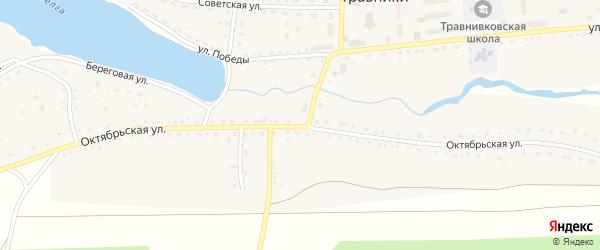 Октябрьская улица на карте села Травники с номерами домов