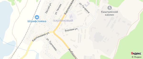 Боровая улица на карте Кыштыма с номерами домов
