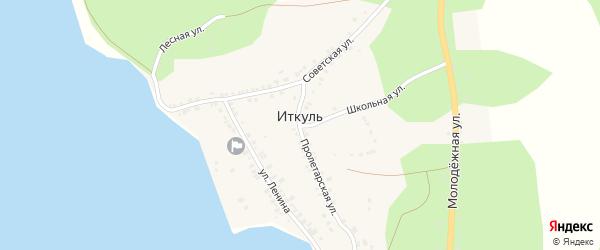 Школьная улица на карте села Иткуля с номерами домов