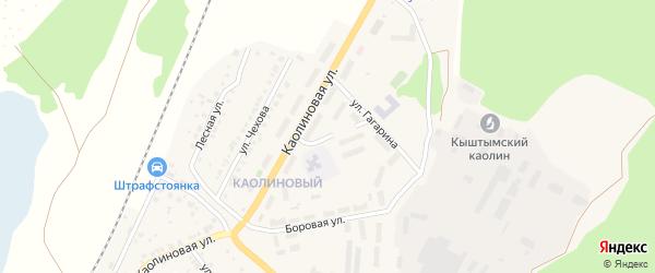 Фаянсовая улица на карте Кыштыма с номерами домов
