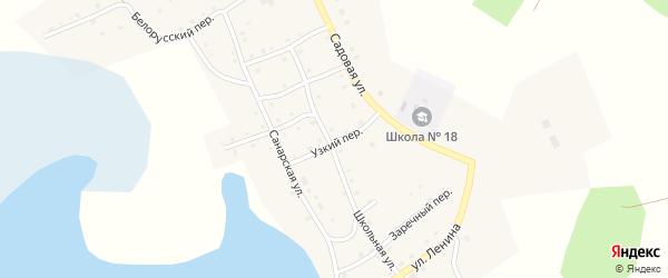 Узкий переулок на карте села Верхней Санарки с номерами домов