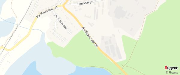 Анбашская улица на карте Кыштыма с номерами домов