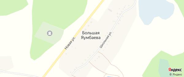 Лесная улица на карте деревни Большая Яумбаева с номерами домов