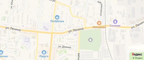 Улица Красной Звезды на карте Кыштыма с номерами домов