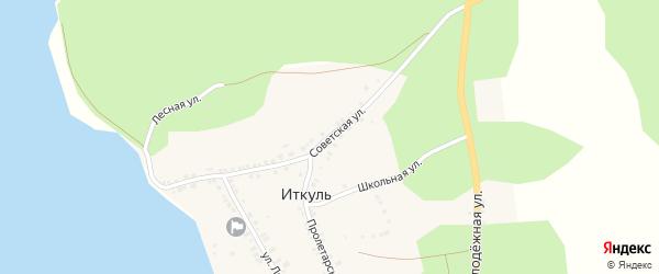 Советская улица на карте села Иткуля с номерами домов