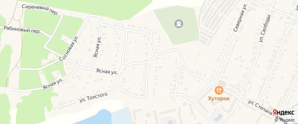 Улица Островского на карте Кыштыма с номерами домов