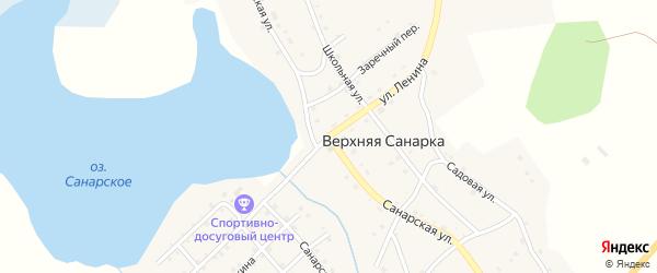 Санарская улица на карте села Верхней Санарки с номерами домов