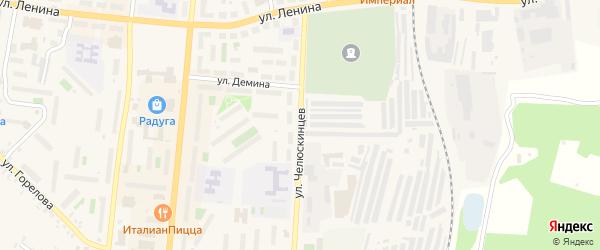 Улица Челюскинцев на карте Кыштыма с номерами домов