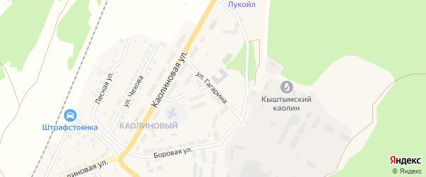 Улица Гагарина на карте Кыштыма с номерами домов
