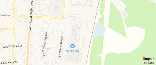 Станция Графитовая улица на карте Кыштыма с номерами домов