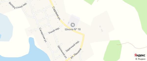 Садовая улица на карте села Верхней Санарки с номерами домов