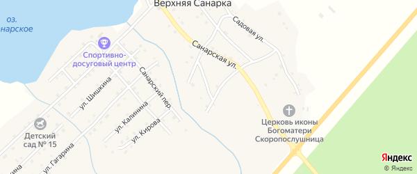 Береговой переулок на карте села Верхней Санарки с номерами домов