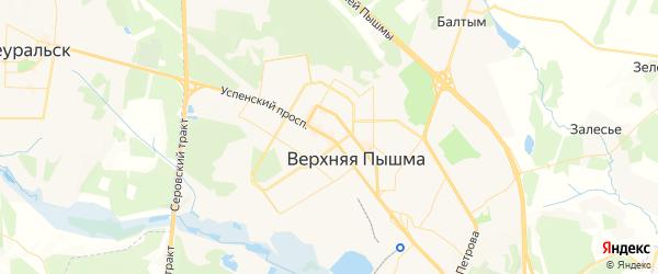 Карта Верхней Пышмы с районами, улицами и номерами домов