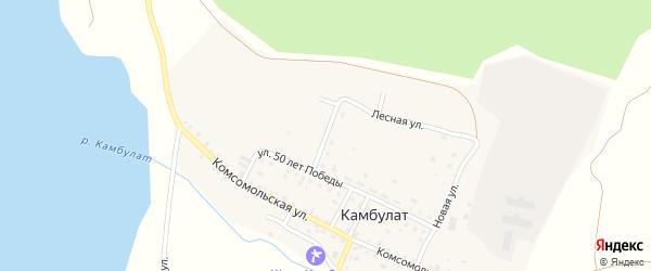 Лесная улица на карте деревни Камбулата с номерами домов