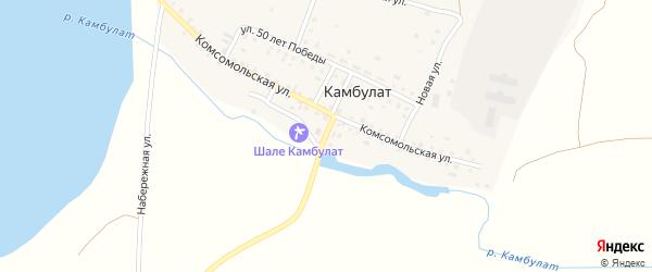 Речной переулок на карте деревни Камбулата с номерами домов