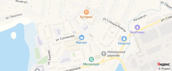 Улица Чернышевского на карте Кыштыма с номерами домов
