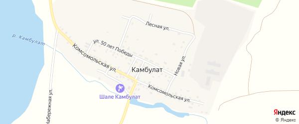 Прудовая улица на карте деревни Камбулата с номерами домов
