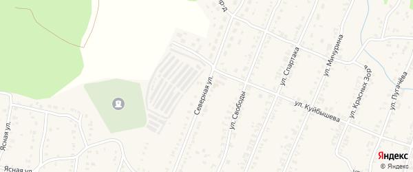 Северная улица на карте Кыштыма с номерами домов