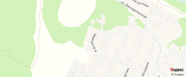 Медный проезд на карте Кыштыма с номерами домов