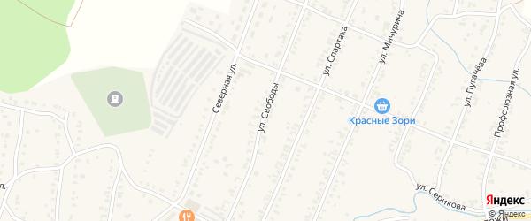 Улица Свободы на карте Кыштыма с номерами домов