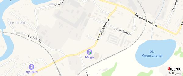 Улица Кольцова на карте Кыштыма с номерами домов