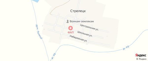 Школьная улица на карте поселка Стрелецка с номерами домов