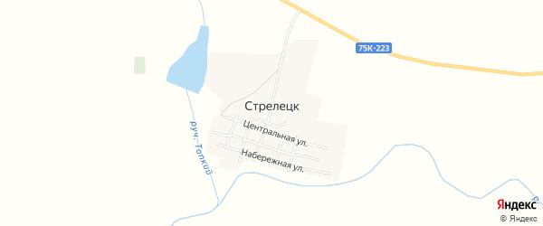Карта поселка Стрелецка в Челябинской области с улицами и номерами домов