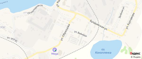 Улица Вайнера на карте Кыштыма с номерами домов